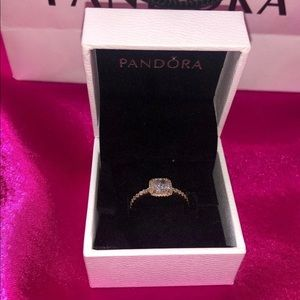 Authentic Pandora Sparkle Halo ring